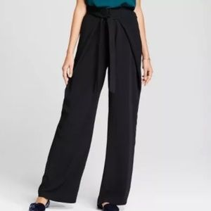NWT a new day wide leg tie front black dress pants